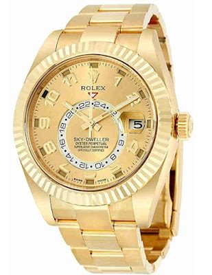 Pajak  Rolex Sky-Dweller-18kt-Yellow-Gold-Oyster-Watch ( Complete Set ) Pajak 80,000