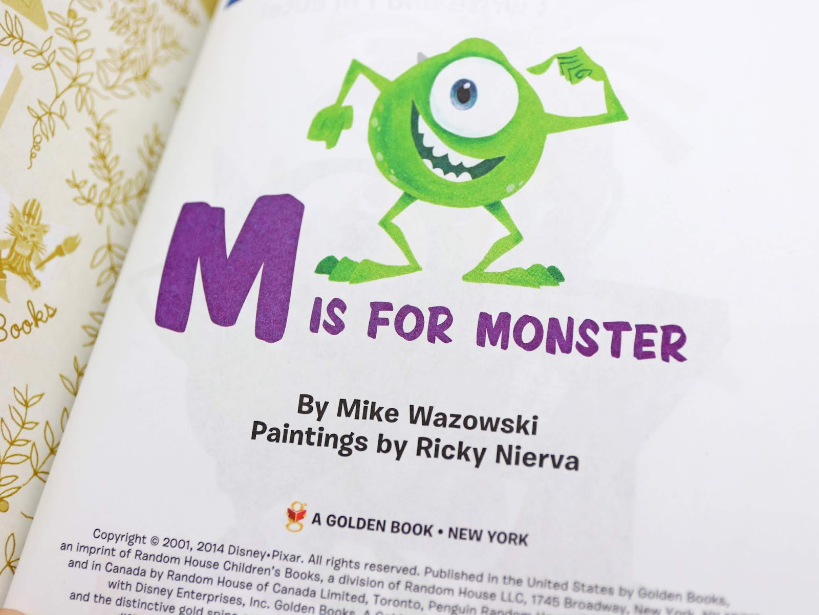Monsters Inc M is for Monster Little Golden Book review