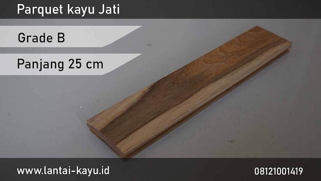 harga Jual lantai kayu Jati grade B