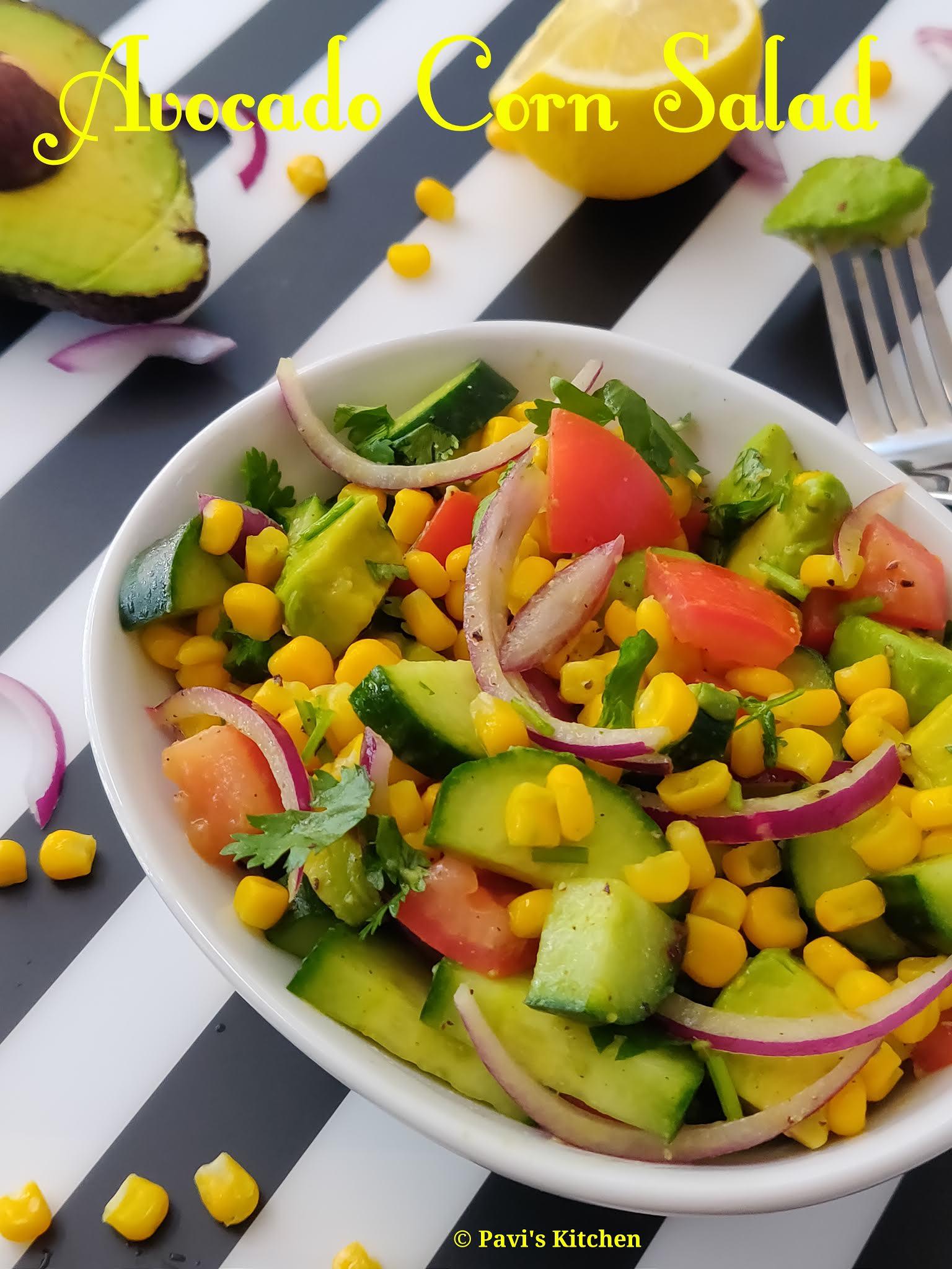 Avocado Salad Recipe | Butter Fruit Salad Recipe