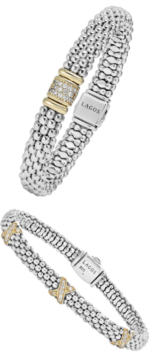 LAGOS Diamond & Caviar Rope Bracelet