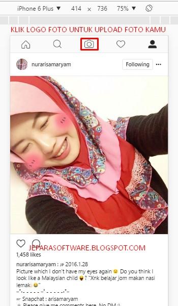 upload foto instagram lewat pc