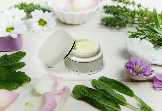 face cream flat lay