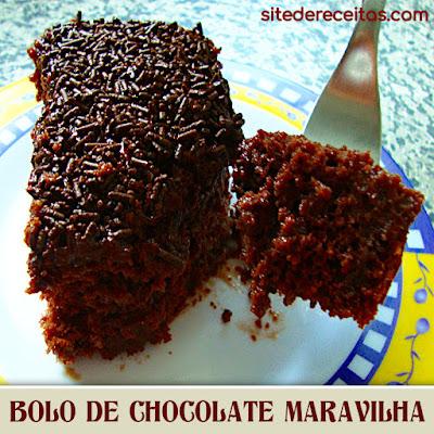 Bolo de chocolate maravilha