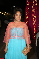 Madhvi Latha in Spicy Transparent Anarkali Dress at Zee Telugu Apsara Awards 2017 26.JPG