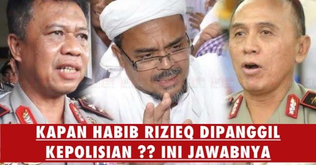 KASUS MENUMPUK, Kapan Habib Rizieq Akan Dipanggil Kepolisian Lagi ?? Ini Jawabnya