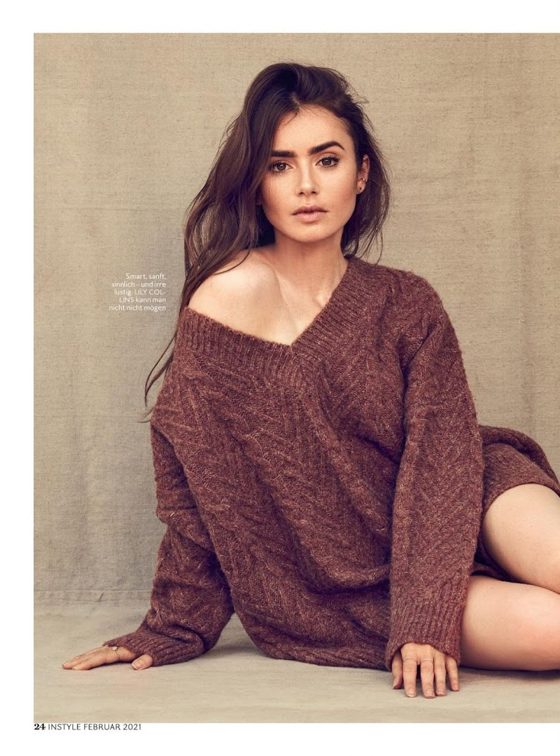 Lily Collins Featured in Instyle Magazine Germany -January 2021