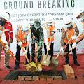 Peletakan Batu Pertama Ground Breaking Pembangunan Terminal BBM di Desa Sei-Gantang