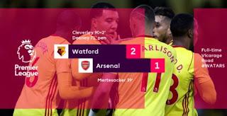 Arsenal Kalah 1-2 di Kandang Watford - Highlights
