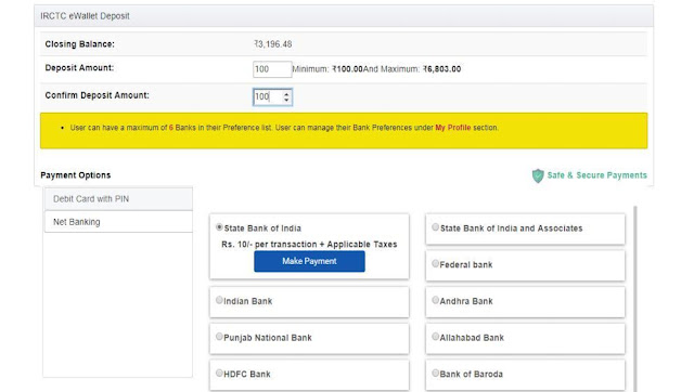 Picture of payment deposit process in ewallet account