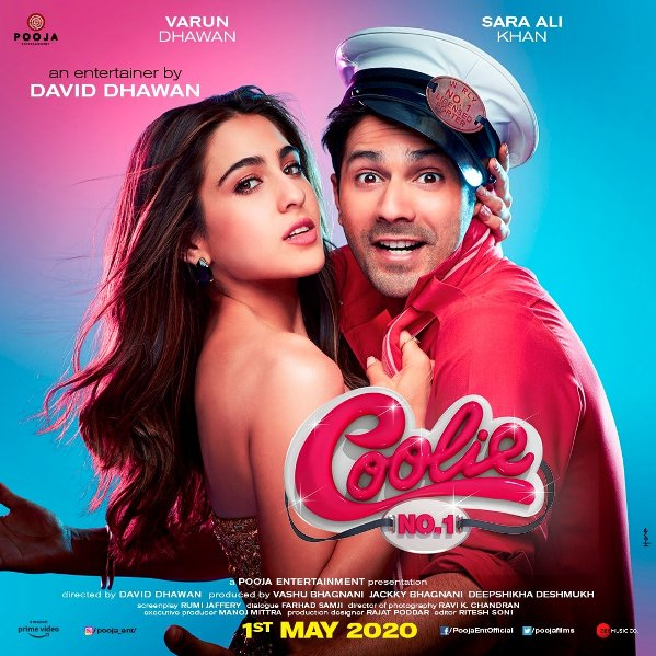 full cast and crew of Bollywood movie Coolie No. 1 2020 wiki, Varun Dhawan, Sara Ali Khan The Great story, release date, Coolie No. 1 wikipedia Actress name poster, trailer, Video, News, Photos, Wallpaper, Wikipedia