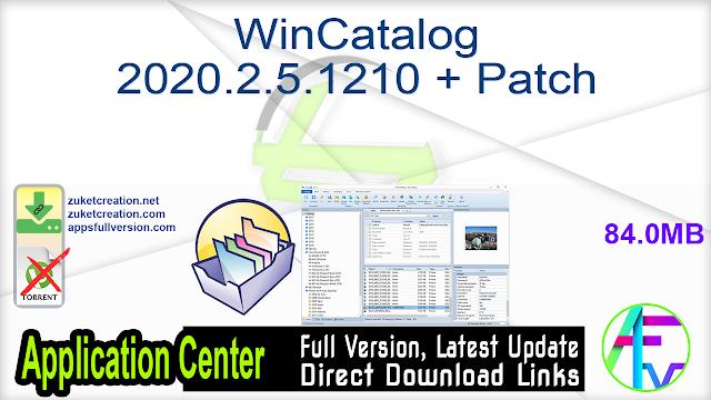 WinCatalog 2020.2.5.1210 + Patch