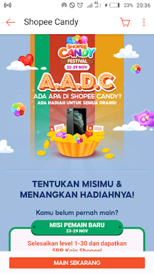 Pengumuman Pemenang Shopee Candy AADC