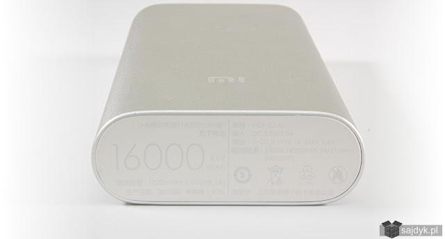 Xiaomi 16000mAh z tyłu