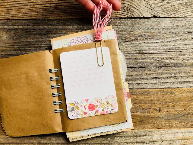 #junk journal #mini book #summer book #mixed paper journal #I Love It All #iloveitallshop #paper clip bookmark