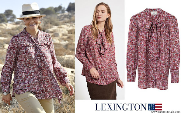 Crown Princess Victoria wore Lexington Janina Red Flower Blouse