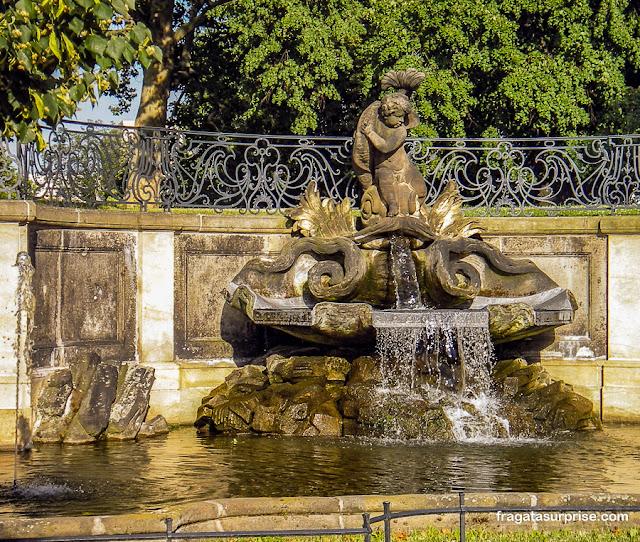 Fonte no Brühlsche Terrasse, Dresden, Alemanha