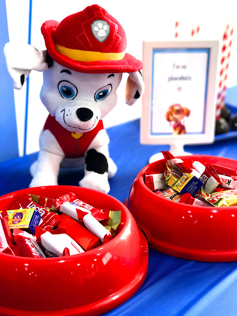 Paw Patrol Party, candy buffet