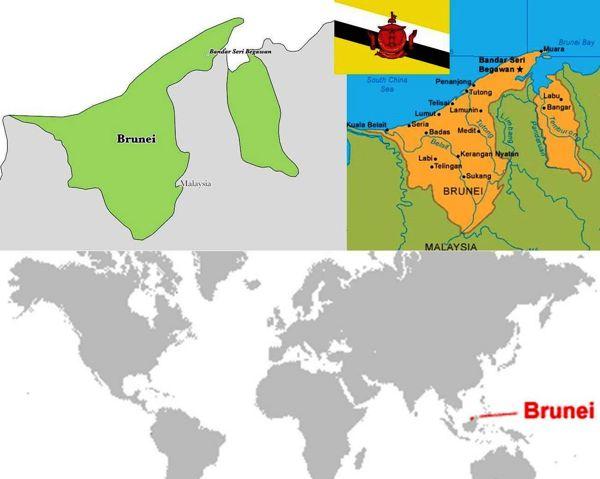 profil peta negara brunei darussalam