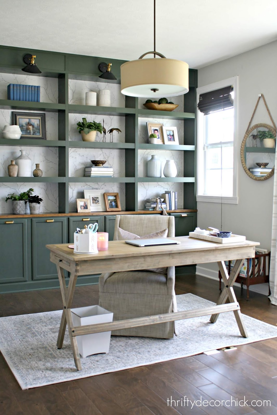 Built in bookcases using kitchen cabinets