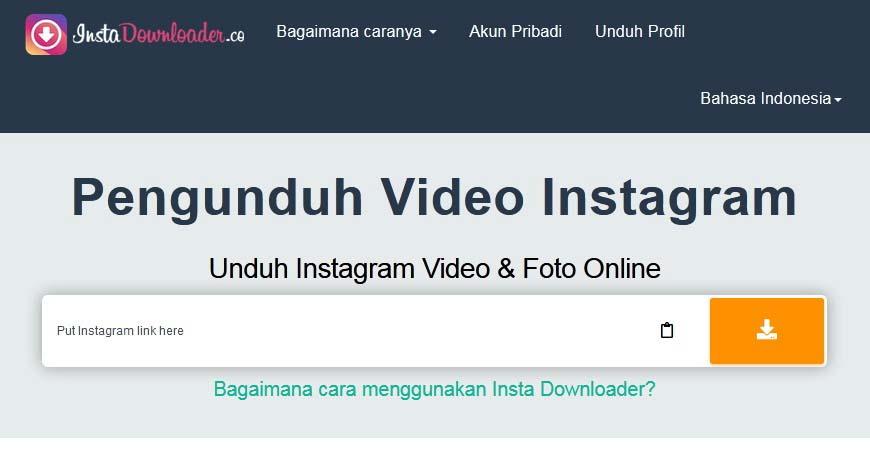 cara download video ig