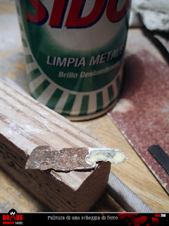 Wooden handled axe