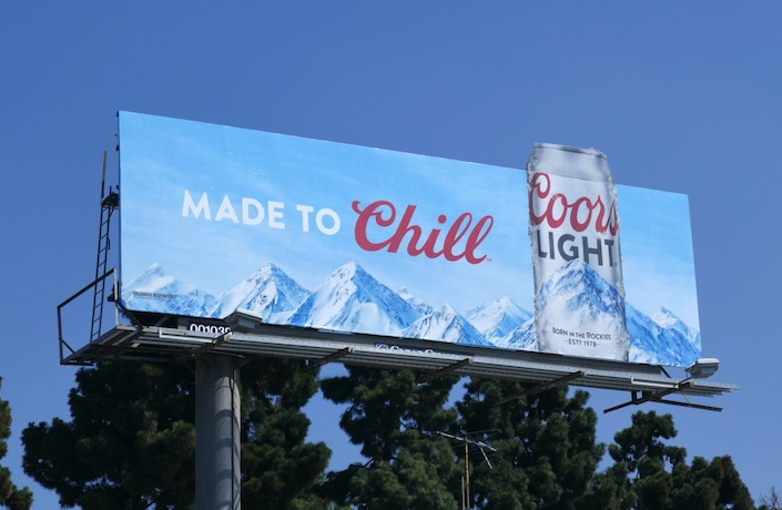 Coors Light Made to Chill extension billboard