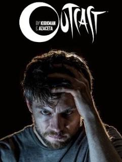 Capa de divulgação da série de terro Outcast, criada por Robert Kirkman.