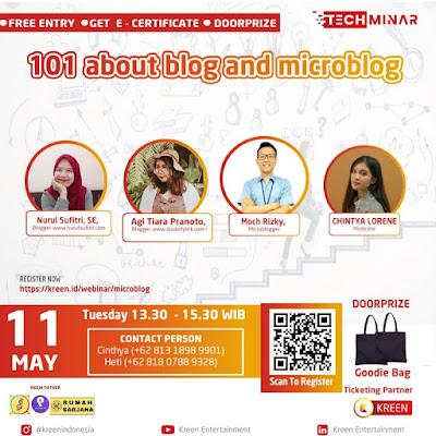 Narasumber Techminar Kreen Indonesia 101 About Blog and Microblog Nurul Sufitri