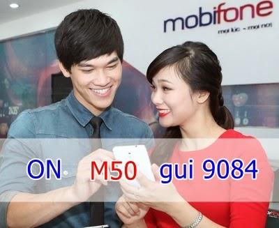 Đăng ký 3G gói M50 của Mobifone