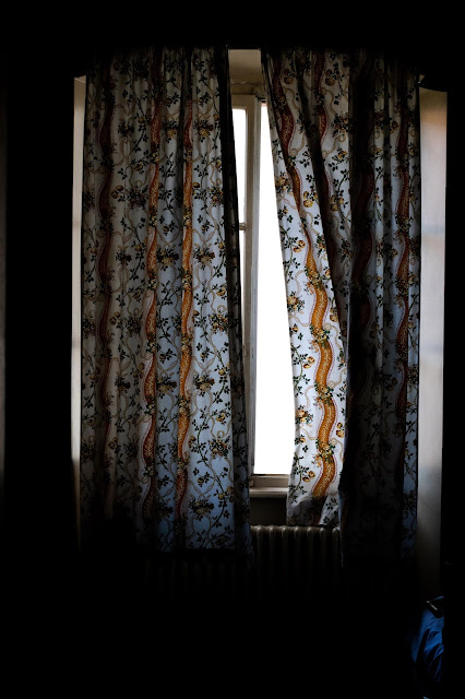 curtains blowing