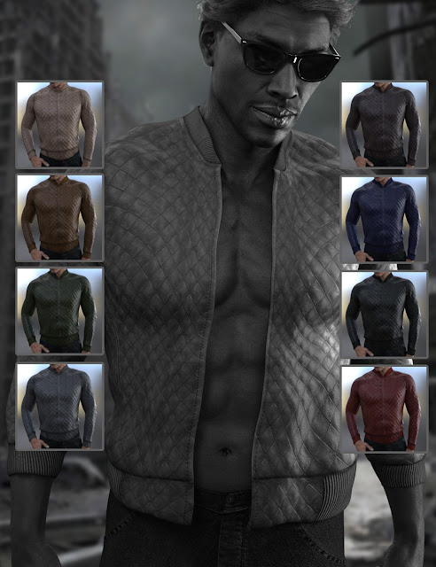 X-Fashion Faux Leather Jacket for Genesis 3 Male