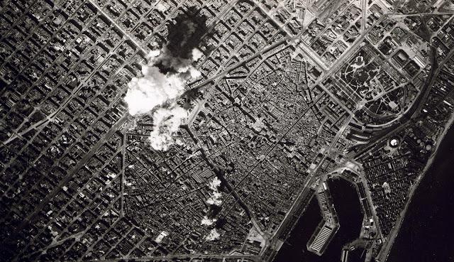 Bombardeig 17 març 1938 sobre Barcelona