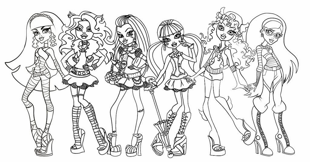 Dibujos Para Colorear De Las Monster High Bebes: Imagenes Para Colorear: Dibujo De Monster High Para Colorear