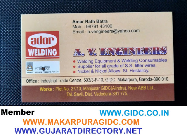 A V ENGINEERS - 9879143100, GSTIN : 24ABXPB2156NIZB, Welding Equipment & Welding Consumables, Stainless Steel Filler Wires