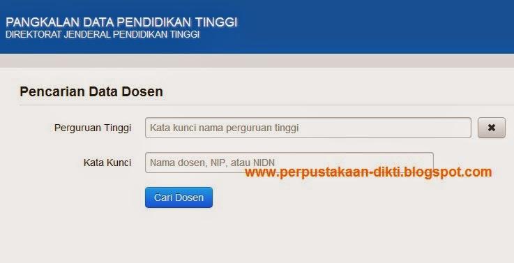 Cara Melihat Data Nidn Nomor Induk Dosen Nasional Dan Profil