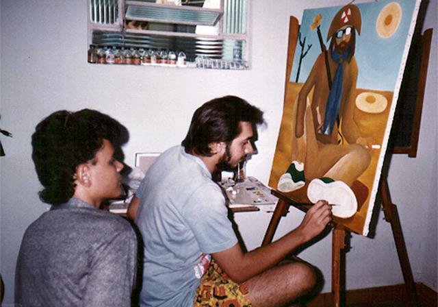Petrônio Sampaio de Alencar - Ateliê de pintura