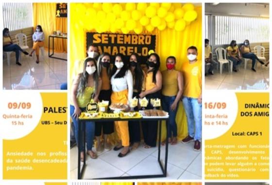 Setembro Amarelo: Setores se reúnem em roda de conversa para debater temas alusivo ao mês de Combate ao suicídio