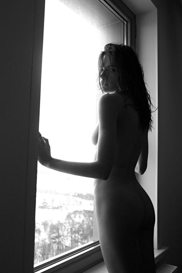 hot nude russia model Polina Grosheva by Viktor Korneev