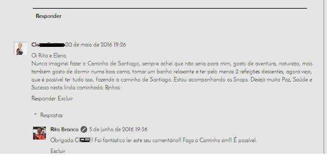 comentários sobre Caminho de Santiago de Compostela