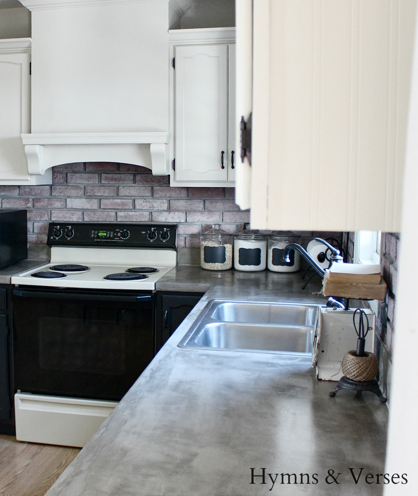 Hymns And Verses Diy Concrete Countertops Over Existing