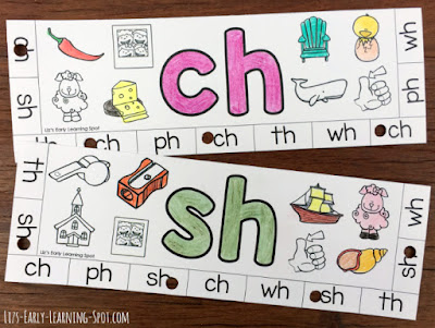 Practice digraphs with these free beginning digraph punch cards!