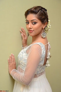 Anu Emmanuel in a Transparent White Choli Cream Ghagra Stunning Pics 054.JPG
