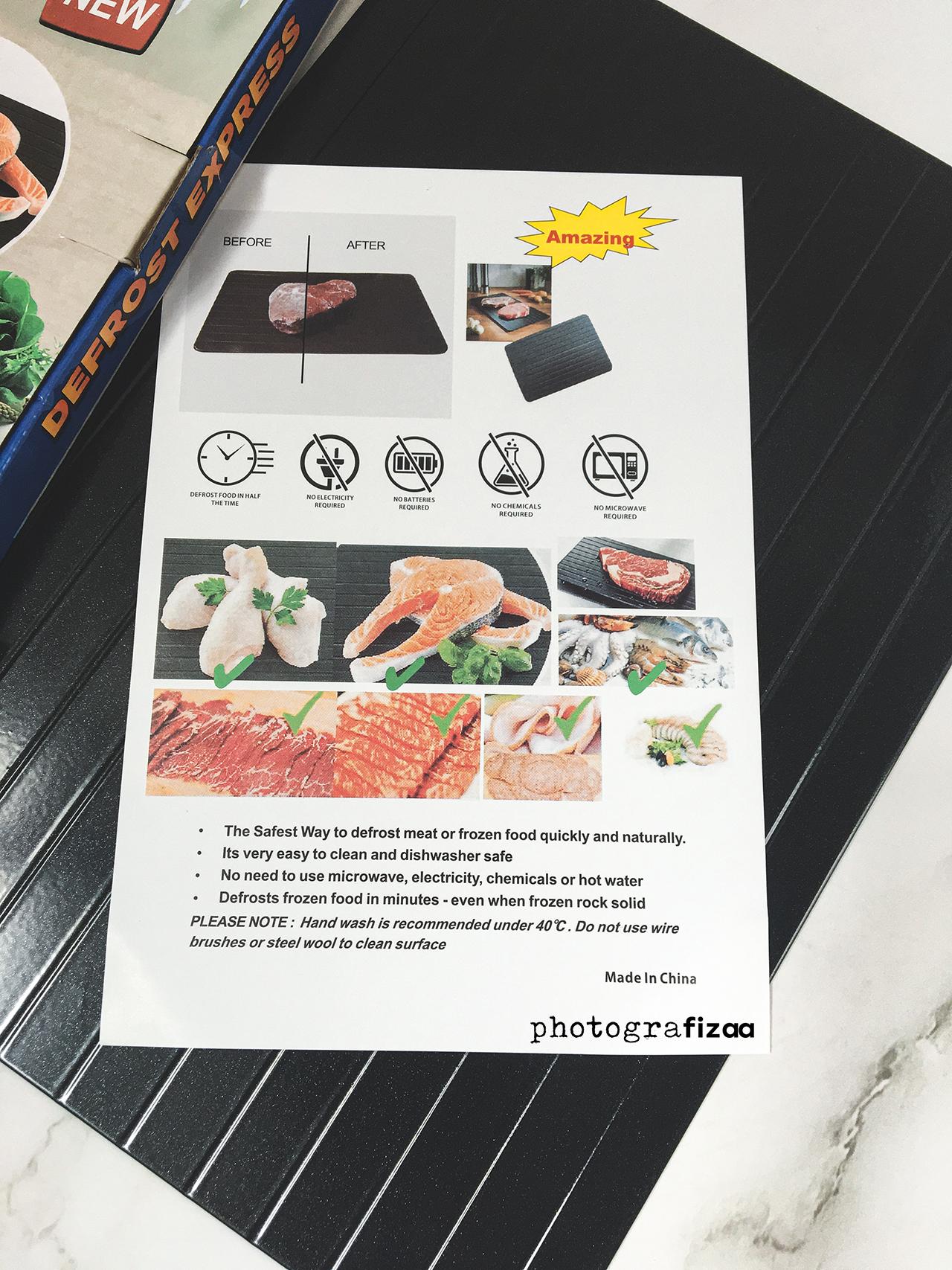 Cara Defrost Daging, Ayam Dan Ikan Cepat Dan Mudah