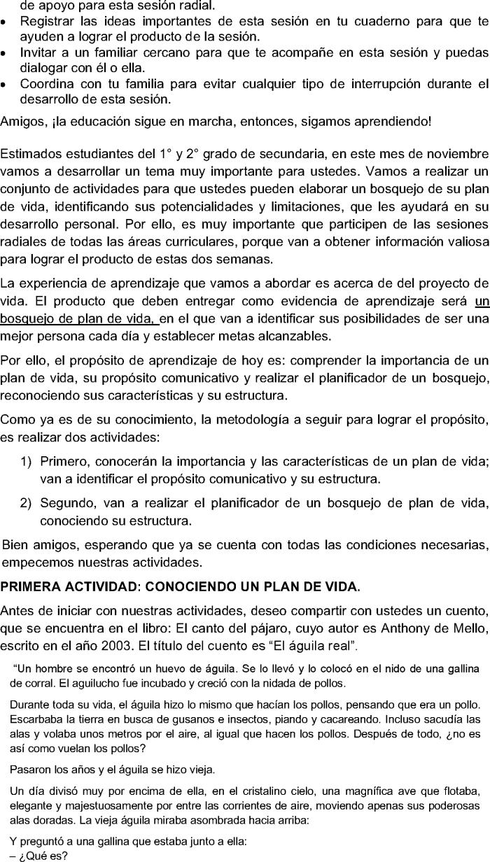 COMUNICACION 1RO 2DO SEMANA 31 PRIMER SEGUNDO TAREA RETO APRENDO EN CASA  SECUNDARIA PDF-WORD-AUDIO FICHA APRENDIZAJE