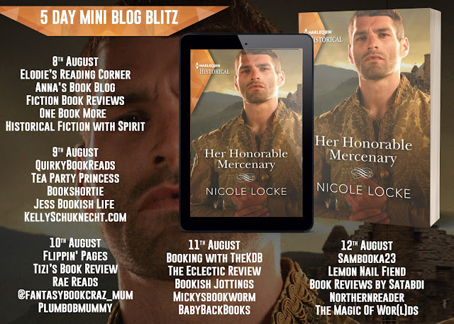 Her Honourable Mercenary by Nicole Locke blog tour banner