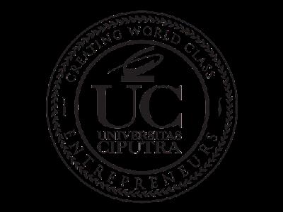 Logo Universitas Ciputra Hitam Putih