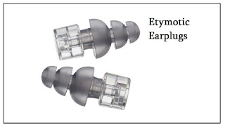 Etymotic ear plugs are developed specifically for musicians which reduce the sound by 20-dB equally across the spectrum of hearing whilst preserving the richness of music