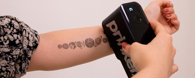 Impresión instantánea de tatoos temporales
