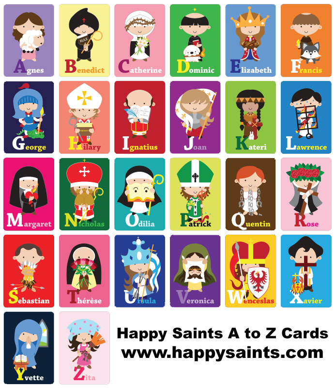 Happy Saints Happy Saints A To Z Cards And Ebook